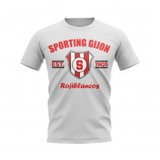 Sporting Gijon Established Football T-Shirt (White)