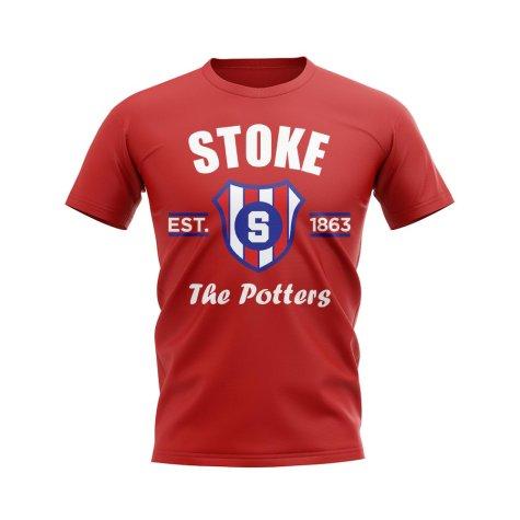 Stoke Established Football T-Shirt (Red)