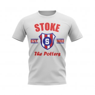 Stoke Established Football T-Shirt (White)
