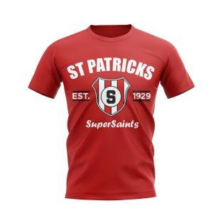 St Patricks Established Football T-Shirt (Red)