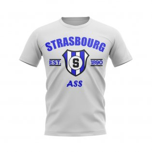 Strasbourg Established Football T-Shirt (White)