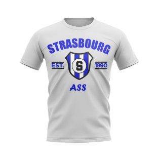 Strasbourg Established Football T-Shirt (White)
