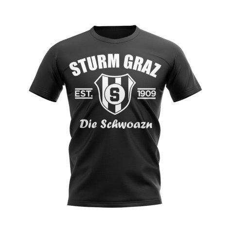 Sturm Graz Established Football T-Shirt (Black)