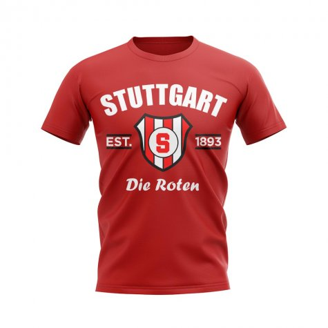 Stuttgart Established Football T-Shirt (Red)