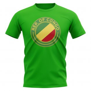 Congo Republic Football Badge T-Shirt (Green)