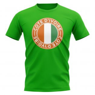 Ivory Coast Football Badge T-Shirt (Green)