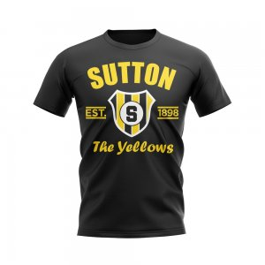 Sutton Established Football T-Shirt (Black)