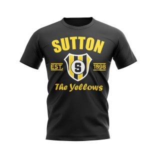 Sutton Established Football T-Shirt (Black)