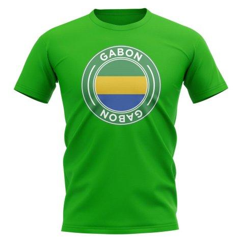 Gabon Football Badge T-Shirt (Green)