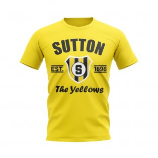 Sutton Established Football T-Shirt (Yellow)