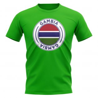 Gambia Football Badge T-Shirt (Green)