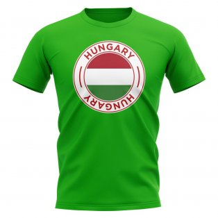 Hungary Football Badge T-Shirt (Green)
