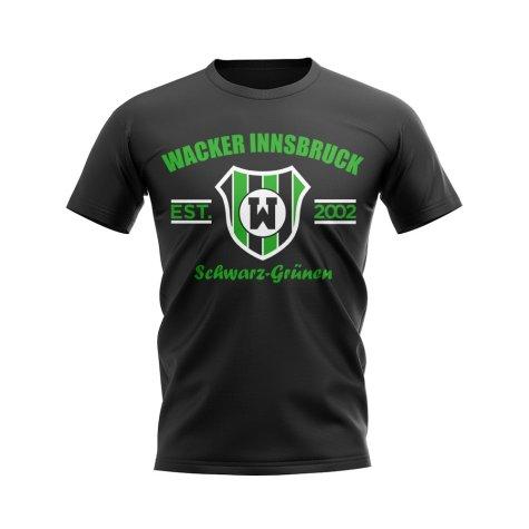 Wacker Innsbruck Established Football T-Shirt (Black)