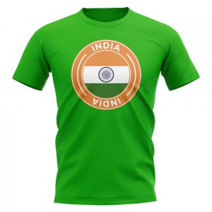 India Football Badge T-Shirt (Green)