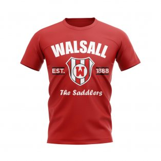 Walsall Established Football T-Shirt (Red)