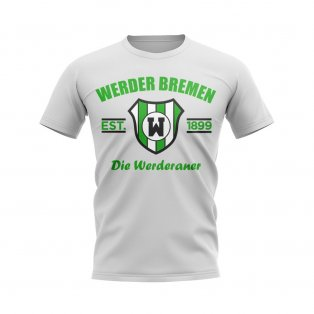 Werder Bremen Established Football T-Shirt (White)