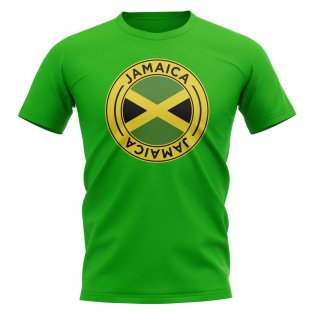 Jamaica Football Badge T-Shirt (Green)