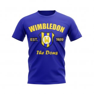 Wimbledon Established Football T-Shirt (Blue)