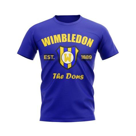 Wimbledon Established Football T-Shirt (Blue)