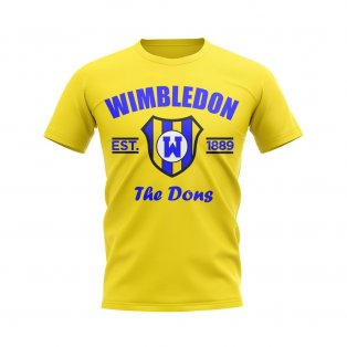 Wimbledon Established Football T-Shirt (Yellow)