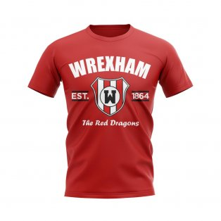 Wrexham Established Football T-Shirt (Red)