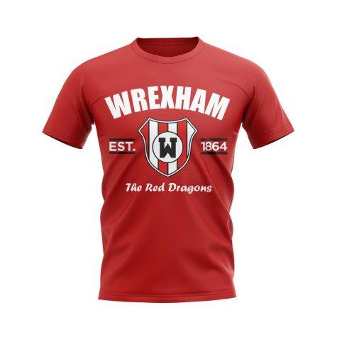 Wrexham Established Football T-Shirt (Red)
