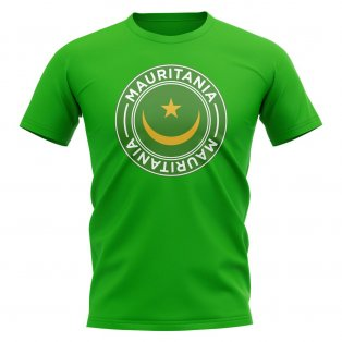 Mauritania Football Badge T-Shirt (Green)