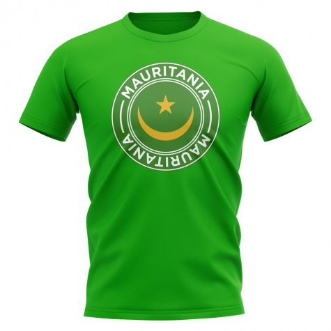 Mauritania Football Badge T-Shirt (Green)