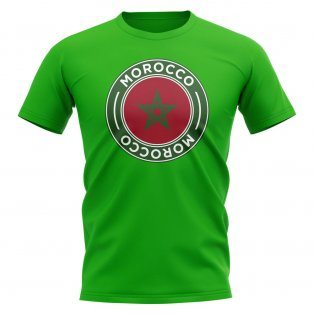 Morocco Football Badge T-Shirt (Green)