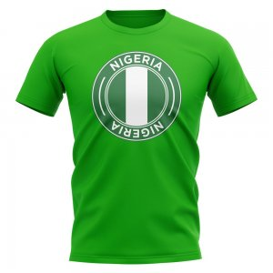 Nigeria Football Badge T-Shirt (Green)