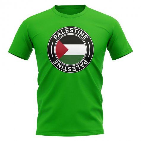 Palestine Football Badge T-Shirt (Green)