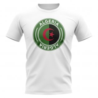 Algeria Football Badge T-Shirt (White)