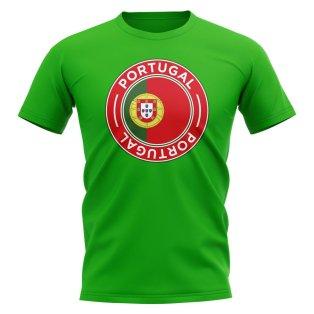 Portugal Football Badge T-Shirt (Green)