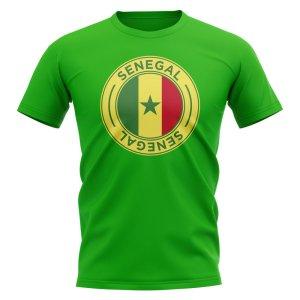 Senegal Football Badge T-Shirt (Green)
