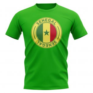 Senegal Football Badge T-Shirt (Green)