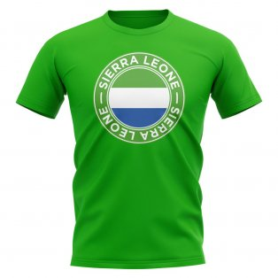 Sierra Leone Football Badge T-Shirt (Green)