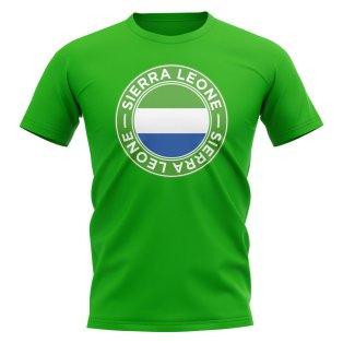 Sierra Leone Football Badge T-Shirt (Green)