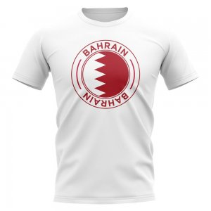 Bahrain Football Badge T-Shirt (White)