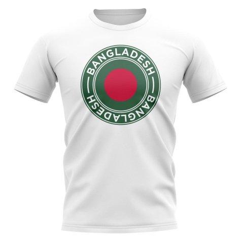 Bangladesh Football Badge T-Shirt (White)