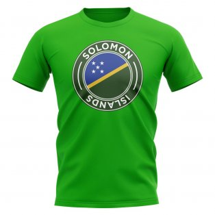 Solomon Islands Football Badge T-Shirt (Green)
