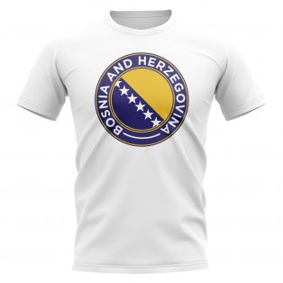 Bosnia Football Badge T-Shirt (White)