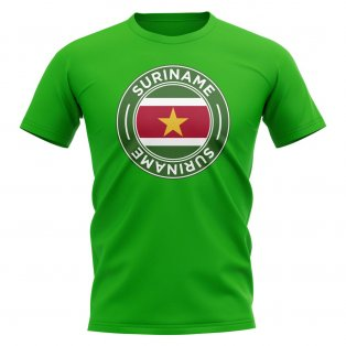 Suriname Football Badge T-Shirt (Green)