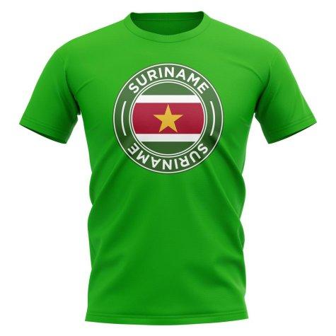 Suriname Football Badge T-Shirt (Green)