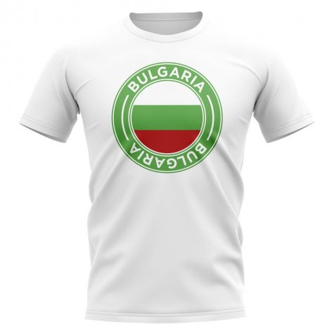 Bulgaria Football Badge T-Shirt (White)
