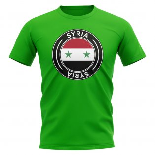 Syria Football Badge T-Shirt (Green)