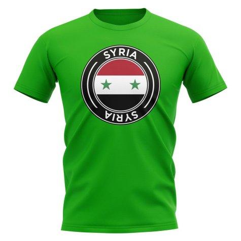 Syria Football Badge T-Shirt (Green)