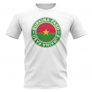 Burkina Faso Football Badge T-Shirt (White)