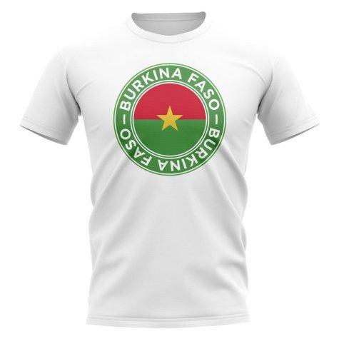 Burkina Faso Football Badge T-Shirt (White)