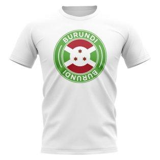 Burundi Football Badge T-Shirt (White)