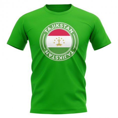 Tajikstan Football Badge T-Shirt (Green)